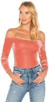 Privacy Please X REVOLVE Camellia Bodysuit in Rose. - size L (also in M,S,XS)