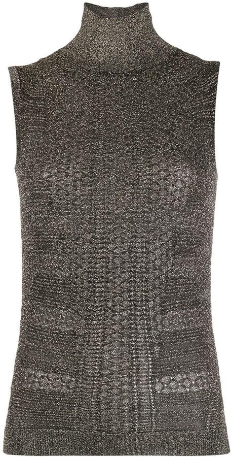 Chloé Knitted Metallic Top