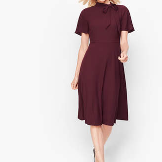 Talbots Hadley Crepe Fit & Flare Dress