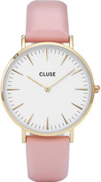 Cluse CL18410 La Bohème gold, stainless steel and leather watch