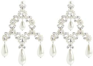 Simone Rocha Faux pearl and crystal-embellished earrings