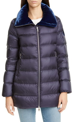 Moncler Torcon Velvet Collar Down Puffer Coat