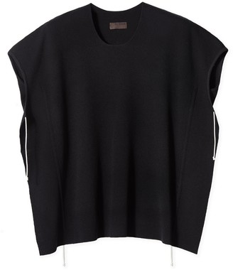 Oyuna Kelda Luxury Black Knitted Cotton Top