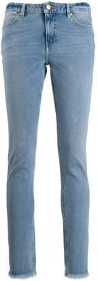 Escada Sport frayed ankle skinny jeans