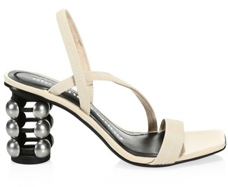 Alexander Wang Deedee Cage-Heel Patent Leather Slingback Sandals