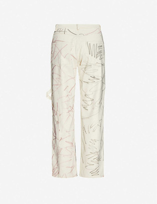 Collina Strada Chason abstract-pattern cotton trousers