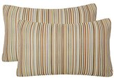 Simple Pack of 2 Simpledecor Throw Pillow Covers Couch Pillow Shells,12X20 Inches,Jacquard Colorful Stripes,Multicolor Brown