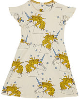 Mini Rodini Unicorn-Print Organic Cotton Dress