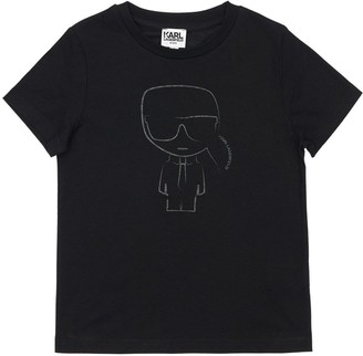 Karl Lagerfeld Paris Print Cotton Jersey T-shirt