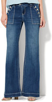New York & Co. Soho Jeans - Sailor-Style Wide Leg - Indigo Blue Wash
