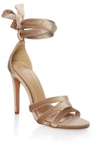 True Decadence Velvet Strappy Sandals