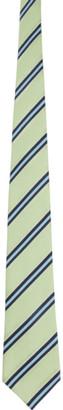 Comme des Garçons Homme Deux Green Silk Striped Tie
