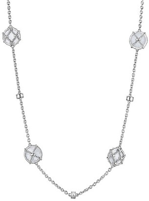 Judith Ripka Isola Sterling Silver & Mother-Of-Pearl Long Station Necklace