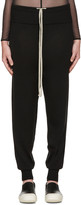 Rick Owens Black Merino Wool Lounge Pants