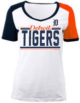 5th & Ocean Women's Detroit Tigers CB Sleeve T-Shirt