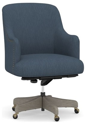 Pottery Barn Reeves Upholstered Swivel Desk Chair