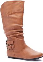 Wild Diva Cognac Buckle Kalisa Boot
