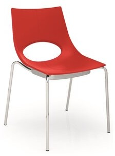 Calligaris Congress Stacking Side Chair (Set of 2 Color: Matte Red