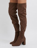 Charlotte Russe Square Toe Over-The-Knee Boots