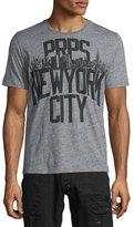 PRPS NYC Logo Short-Sleeve Graphic T-Shirt, Medium Gray