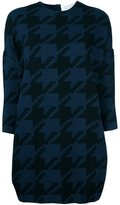 Gianluca Capannolo houndstooth shift dress - women - Polyester/Viscose - S