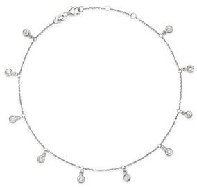 Bloomingdale's Diamond Bezel Droplet Ankle Bracelet in 14K White Gold, 0.50 ct. t.w. - 100% Exclusive