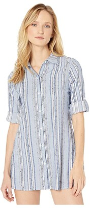Tommy Bahama Sail Forth Boyfriend Shirt Cover-Up (White) Women's Swimwear