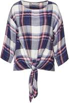 Great Plains Charlotte Check Knot Detail Top