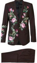 Dolce & Gabbana classic floral appliqué suit