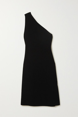 Bottega Veneta One-shoulder Stretch-knit Midi Dress - Black