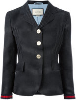Gucci micro dot blazer - women - Silk/Cotton/Acetate/Wool - 42