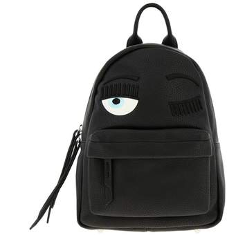 Chiara Ferragni Backpack Flirting Backpack In Synthetic Leather With Embroidery