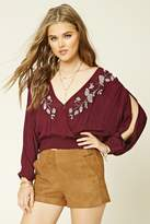 Forever 21 FOREVER 21+ Embroidered Peasant Top