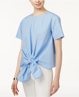 J.o.a. Cotton Tie-Hem Top