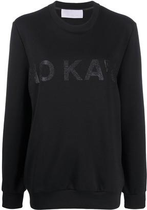 NO KA 'OI Glitter Logo Sweatshirt