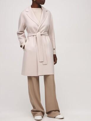 S Max Mara Arona Wool Belted Coat