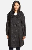 Mycra Pac Designer Wear Women's 'Donatella' Reversible Dot Pleat Hood Packable Travel Coat