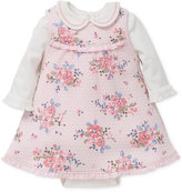 Little Me 2-Pc. Bodysuit and Floral-Print Jumper Dress Set, Baby Girls (0-24 months)