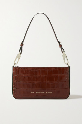 Chylak - Underarm Glossed Croc-effect Leather Shoulder Bag - Brown