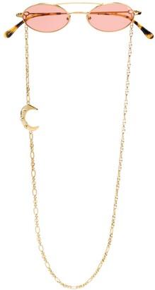 Linda Farrow x Alessandra Rich chain detail sunglasses