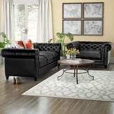 Darby Home Co Bardo 2 Piece Leather Living Room Set