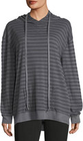 Allen Allen Striped Hooded Sweater