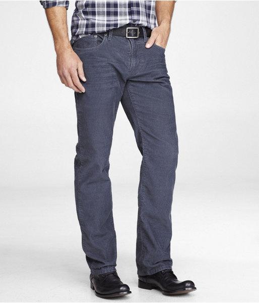 Express Rocco Slim Fit Straight Leg Corduroy Jean