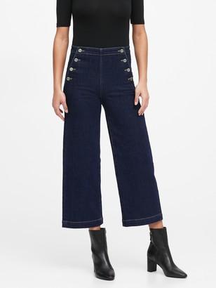 Banana Republic Petite High-Rise Wide-Leg Cropped Sailor Jean