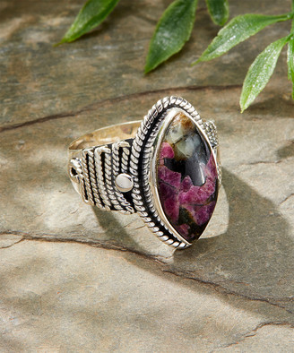 Marquis YS Gems Women's Rings Red - Purple Eudolite & Sterling Silver Ring