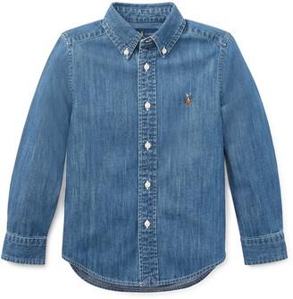 Ralph Lauren Kids Ls Woven Chambray Shirt