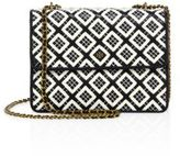 Tory Burch Robinson Woven Leather Chain Crossbody Bag