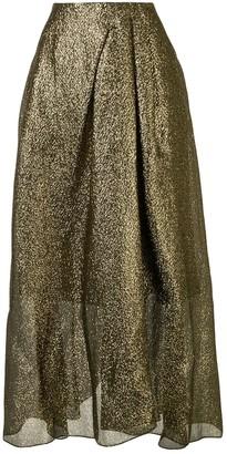 Roland Mouret A-line metallic skirt