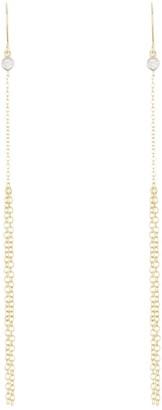 Meira T 14K Yellow Gold Bezel Set Diamond Chain Drop Earrings