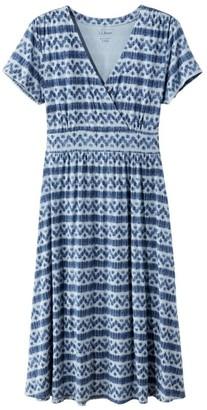 L.L. Bean Women's Clothing Summer Knit Dress, Short-Sleeve Stripe